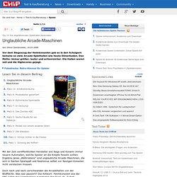 Top 10: Die abgefahrensten Spielhallen-Automaten