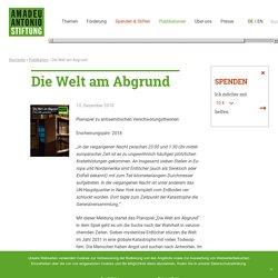 Die Welt am Abgrund – Amadeu Antonio Stiftung