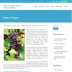 Abiding in Prayer - Soul Shepherding