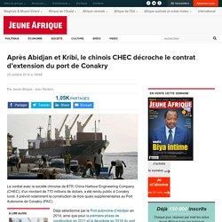 Après Abidjan et Kribi, le chinois CHEC décroche le contrat d'extension du port de Conakry