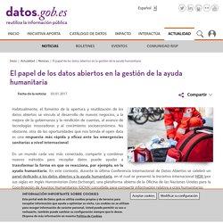 El papel de los datos abiertos en la gestión de la ayuda humanitaria