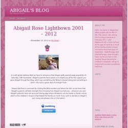 Abigail's Blog | My Special Place!