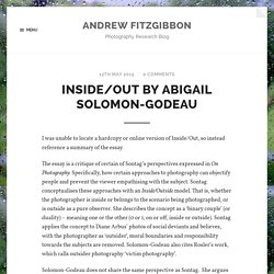 Inside/Out by Abigail Solomon-Godeau – Andrew Fitzgibbon