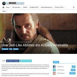 How Jedi-Like Abilities are Actually Attainable