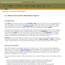 9(e) Abiotic Factors and the Distribution of Species