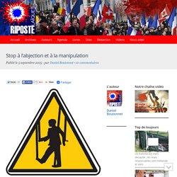 Stop à l'abjection et à la manipulation