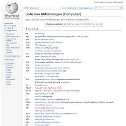 Liste von Abkürzungen (Computer)