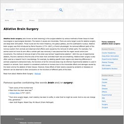 Ablative Brain Surgery