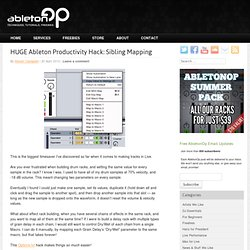 HUGE Ableton Productivity Hack: Sibling Mapping – AbletonOp