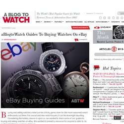 Guides To Buying Watches On eBay