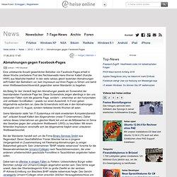 Abmahnungen gegen Facebook-Pages