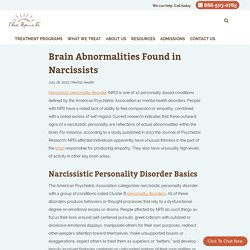 Brain Abnormalities Found in Narcissists