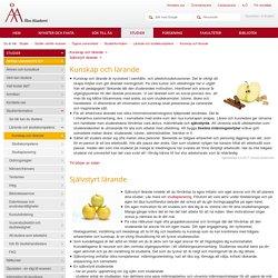 Åbo Akademi - Kunskap och lärande