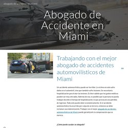 Working With the Best Miami Car Accident Attorney