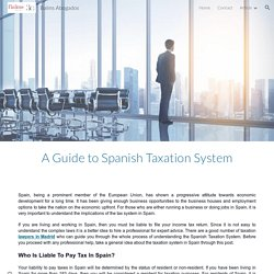 A Guide to Spanish Taxation System