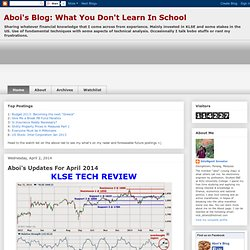 aboi's Blog: What You Don't Learn In School