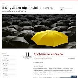 Il Blog di Pierluigi Piccini