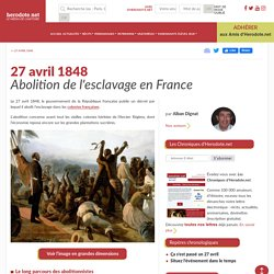 27 avril 1848 - Abolition de l'esclavage en France - Herodote.net