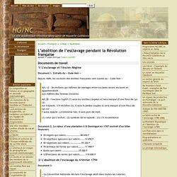 L'abolition de l'esclavage pendant la Révolution française