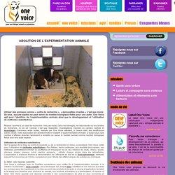 Abolition de l'expérimentation animale
