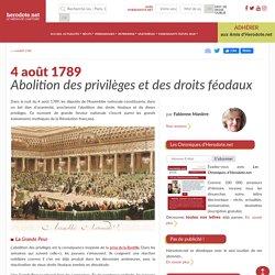 4 août 1789 - Abolition des privilèges et des droits féodaux - Herodote.net