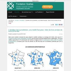 L'abolition de la prostitution, une réalité française : bilan de trois années de la loi 2016-444