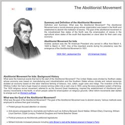 Abolitionist Movement for kids ***