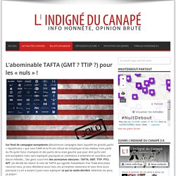 L'abominable TAFTA (GMT ? TTIP ?) pour les «nuls» !