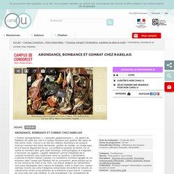 Abondance, bombance et combat chez Rabelais - Campus Condorcet – Paris-Aubervilliers