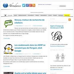 Le blog d'Abondance - Référencement et moteurs de recherche
