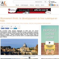 Abonnement illimité : le développement du livre numérique en Italie