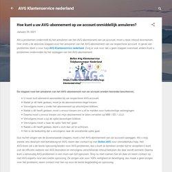 Hoe kunt u uw AVG-abonnement op uw account onmiddellijk annuleren?