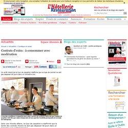 Contrats d'extra : à consommer avec modération - lhotellerie-restauration.fr