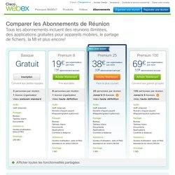 Souscrivez à un compte Réunions WebEx Basic ou Premium | WebEx