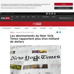 Les abonnements du New York Times rapportent plus d'un milliard de dollars - rts.ch - Médias