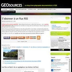 S'abonner à un flux RSS « GEOsources