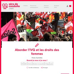 Aborder l'IVG et les droits des femmes