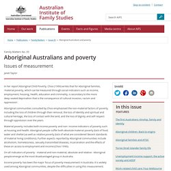 Family Matters - Issue 35 - Aboriginal Australians and poverty