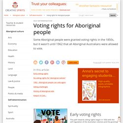 Voting rights for Aboriginal people - Creative Spirits