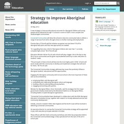 Strategy to improve Aboriginal education - NSW Department of Education
