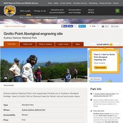 Grotto Point Aboriginal engraving site