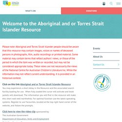 Welcome to the Aboriginal and or Torres Strait Islander Resource - NCACL