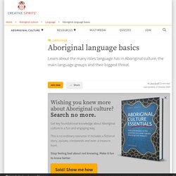 Aboriginal language basics