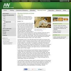 Aboriginal trade: Museum Victoria