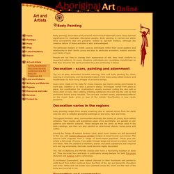 Aboriginal body painting - Aboriginal Art Online