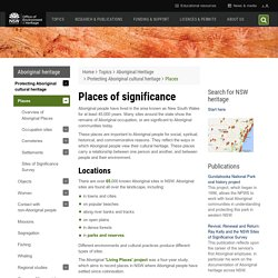 Aboriginal places of significance
