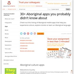 30+ Aboriginal apps you probably didn't know about - Creative Spirits