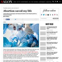 Abortion saved my life