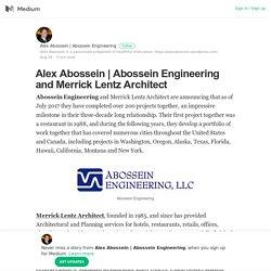 Abossein Engineering and Merrick Lentz Architect