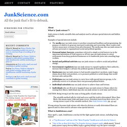 About JunkScience.com